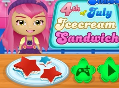 4th of July Ice Cream Sandwich
