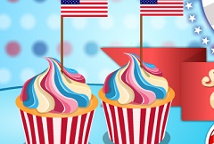 4th Of July Sweetheart Cupcakes
