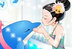 A Dolphin Kiss at Sea World
