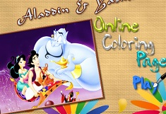 Aladdin and Jasmine Coloring