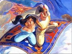 Aladdin and Jasmine Flying Carpet Puzzle