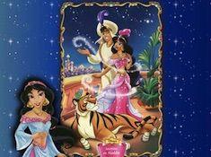 Aladdin and Jasmine Portrait Puzzle