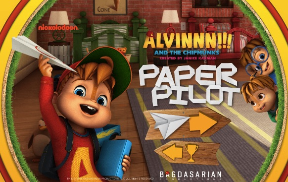 Alvin and the Chipmunks Paper Airplane