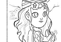 Ana the Pirate Coloring Game