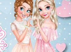 Anna and Elsa Glittery Bridesmaids