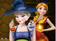 Anna and Elsa Magic Potion