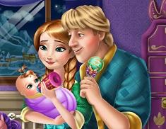 Anna and Kristoff Feeding Baby
