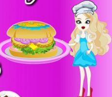 Anna Cooking Beach Burger