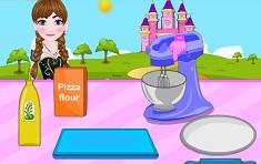 Anna Cooking Muffaletta Pizza