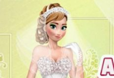 Anna Frozen Wedding Look