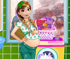 Anna Pregnant Washing Clothes