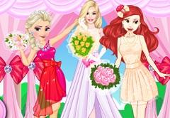 Ariel and Elsa Bridesmaids