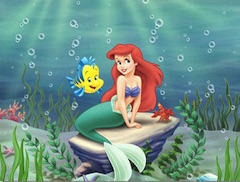 Ariel and Flounder Cute Puzzle