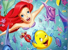 Ariel and Flounder Fun Puzzle
