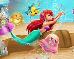 Ariel Swimming in the Ocean