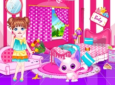 Baby and Her Pink Room