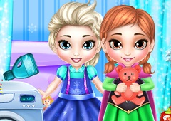 Baby Anna and Elsa Washing Toys