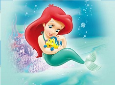 Baby Ariel and Flounder Puzzle