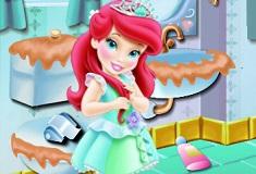Baby Ariel Bathroom Cleaning