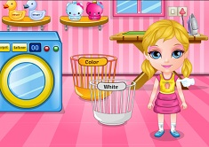 Baby Barbie Laundry Day