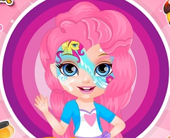 Baby Barbie My Little Pony Face Tattoo