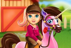 Baby Barbie Pony Care