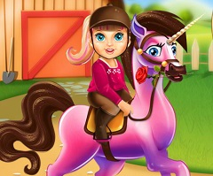 Baby Barbie Superhero Pony Care
