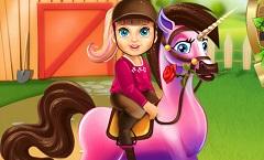 Baby Barbie Superhero Pony Caring