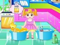 Baby Dishes Washing