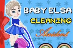 Baby Elsa Cleaning Accident