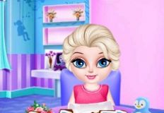 Baby Elsa Homemade Cookies Cooking