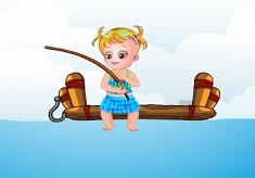 Baby Hazel Fishing Day