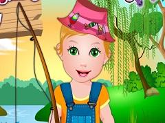Baby Juliet Fishing