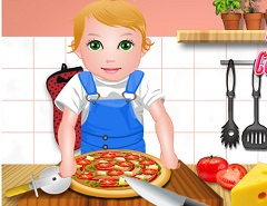 Baby Juliet Pizza Day