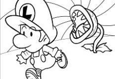 Baby Luigi Coloring