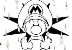 Baby Mario Coloring