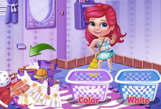 Baby Princess Clothes Washing