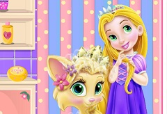 Baby Rapunzel and Baby Princess Pet