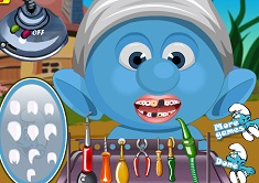 baby smurfs at the dentist smurfs games