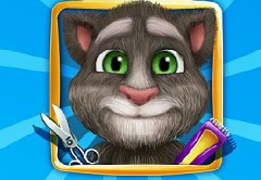 Baby Talking Tom Shaving