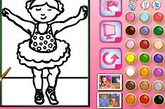 Ballerina Online Coloring