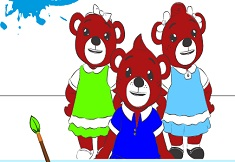 Bananas in Pyjamas Bear Friends Coloring