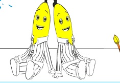 Bananas in Pyjamas Coloring
