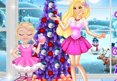 Barbie and Baby Barbie Christmas Fun