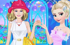 Barbie and Elsa Casual Fashion