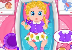 Barbie Baby Bed Time