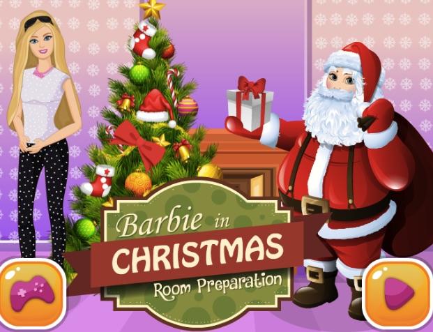 Barbie Christmas Room Preparations