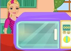 Barbie Cooking Meatloaf