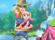 Barbie Family Camping