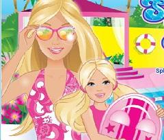 Amazon.com: Barbie Glam Pool Playset with Bonus Beach Doll ...